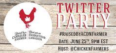 Raised by a Canadian Farmer Logo, Contest + Twitter Party! #RaisedByACDNFarmer #ChickendotCA - Simply Stacie