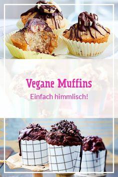 Köstliche Küchlein ganz ohne tierische Produkte: Hier findest du das einfache Grundrezept, süße Varianten und praktische Backtipps für vegane Muffins. #backen #backrezepte #muffins #veganemuffins #vegan #veganbacken