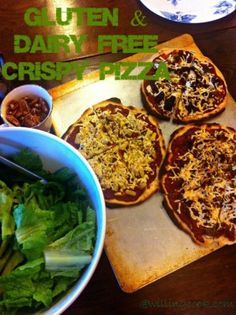 Gluten & Dairy Free Crispy Pizza -  So good that even non-allergy people will love it!