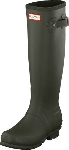 buy popular 169b2 5e999 Köp Hunter Women s Original Tall Dark Olive gröna Skor Online   FOOTWAY.se