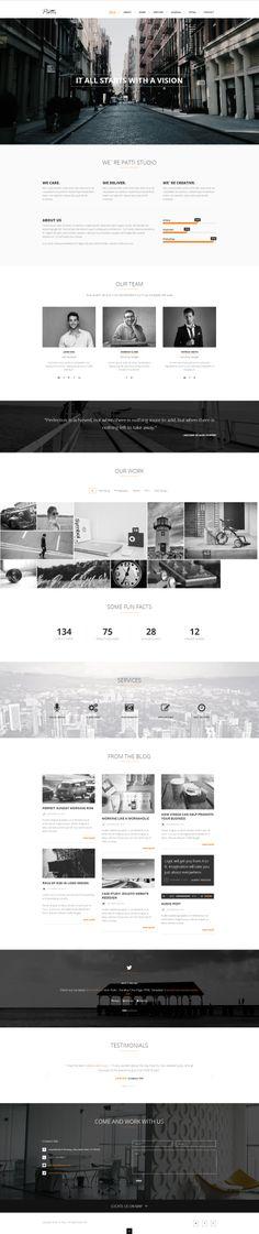 Patti - #Parallax #OnePage HTML #Template