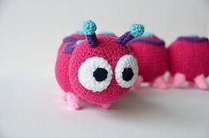 Absolom the Caterpillar Crochet Pattern, Centipede Amigurumi, Caterpillar Amigurumi