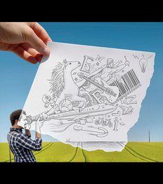 La réalité augmentée selon Ben Heine