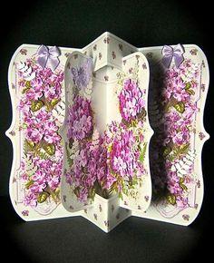Card Gallery - Violets Concertina Bracket 3D Card Kit