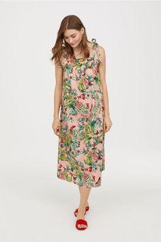 Patterned Dress - Pink/floral - Ladies   H&M US 1 - $35