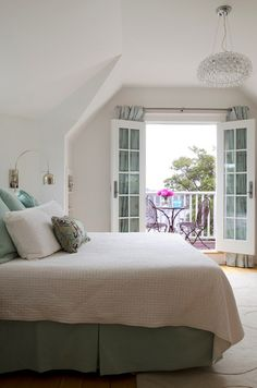 Great French doors leading out to balcony Luxury Bedroom Design ca5450069e