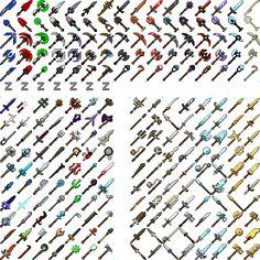 Minecraft dokucraft weapon textures by ZonerDarkRevention