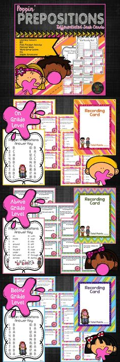 Teaching prepositions is an ease with these differentiated preposition task cards!  Click here to see what other teachers have to say about these grammar task cards which can easily be incorporated into your ELA lessons and used with countless activities!