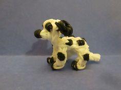 Rainbow Loom Dalmatian Dog or Puppy Charm  tutorial by Lovely Lovebird Designs. 3-D