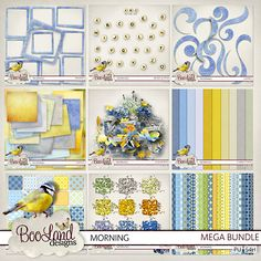 Morning Mega Bundle #BoolandDesigns. #theStudio #digiscrap $12.97