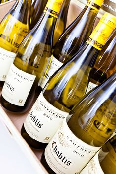 French bottles of Chablis