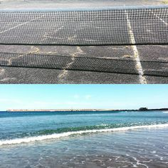 Tennis and beach today!  #tennis #beach #beautiful #day #net #waves #blue #water #sunshine #spring #great #weather #warrnambool by izzyrix7