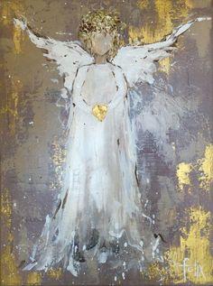 Angel acrylic painting by anita felix paintings Christmas Angels, Christmas Art, Painting & Drawing, Watercolor Paintings, Paintings Of Angels, Creation Art, Angel Pictures, Angel Images, Christmas Paintings