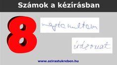 A grafológiai számszimbolika a kézírásban számokká vált betűk jelentését vizsgálja. Mit jelentenek az 8-asnak látszó betűk? Ootd, Symbols, Letters, Letter, Lettering, Glyphs, Calligraphy, Icons