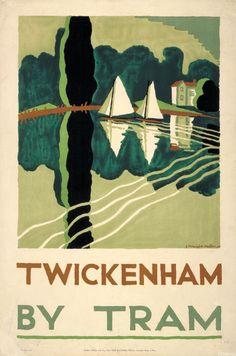 E. McKnight Kauffer, poster for the London Underground, 1930.