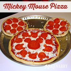 What fun ideas for a Mickey Mouse birthday! My child would love these party plans for a treasure hunt, an easy birthday cake and a pizza shaped like Mickey Mouse.