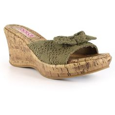 Dolce by Mojo Moxy Piper Women's Crochet Wedge Sandals (€41) ❤ liked on Polyvore featuring shoes, sandals, lt beige, cork sandals, wedge sandals, slip on sandals, platform wedge sandals and open toe wedge sandals
