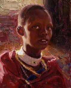 Masaai Girl, Tanzania, Scott Burdick (1967, American)