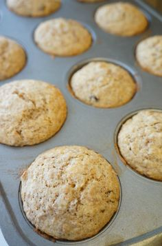 The muffins should look almost under-done when you pull them from the oven, but they'll be delicious!