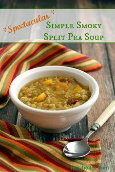 Spectacular Simple Smoky Split Pea Soup (#vegan #glutenfree #recipe)   rickiheller.com