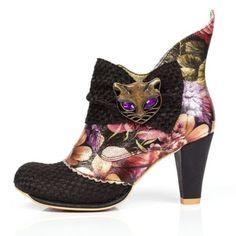 NEW-IRREGULAR-CHOICE-MIAOW-BLACK-FLORAL-AB-CAT-HI-SHOES-ANKLE-BOOTS-UK-3-7-5
