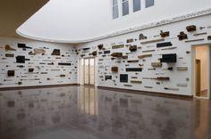 Leonardo Drew, installation at the Weatherspoon Art Museum