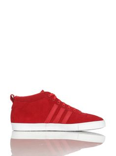 separation shoes 46b65 a49a1 Adidas GAZELLE 50S MID Rot Wildleder Herren Sneakers Schuhe Neu Amazon.de  Schuhe