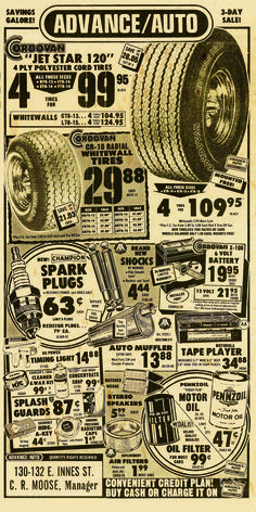 19 best Advance Auto Parts Stores images on Pinterest   Garage     An Advance Auto Parts ad from 1976   history  memories  old  tbt