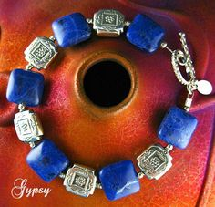 Mare's Tail Cloud  Bracelet - Sodalite gemstones and Sterling Silver