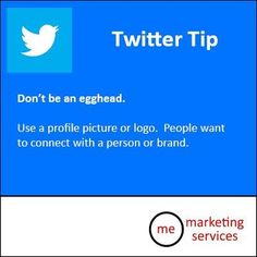 #Twitter Tip: Don't be an egghead. Yes please change it!