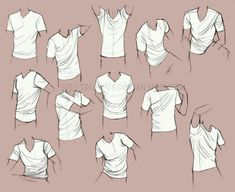 Shirts, positions, T-shirt; How to Draw Manga/Anime
