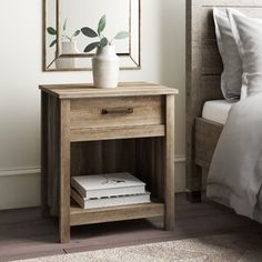 Valencia 1 - Drawer Nightstand in Ash Gray Bedroom Furniture, Diy Furniture, Furniture Design, Furniture Layout, Cabin Furniture, Country Furniture, Painting Furniture, White Furniture, Minimalist Nightstand