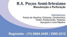 Cartão de visita – R.A. Poços Semi-Artesiano (Software – CorelDraw)