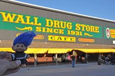 Blue-haired troll at Wall Drug
