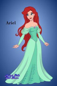 Redhead ariel in blue bra