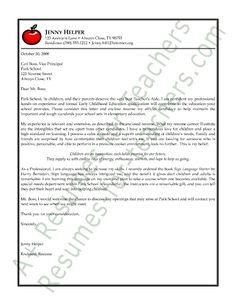 teachers aide cover letter example - Samples Cover Letter For Job Application