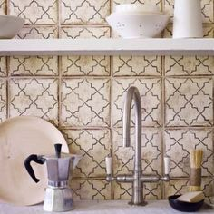 ideas kitchen wall tiles patterned fired earth for 2019 Kitchen Floor Tile Patterns, Kitchen Floor Plans, Wall And Floor Tiles, Country Kitchen Backsplash, Kitchen Wall Tiles, Kitchen Flooring, Kitchen Renovation Design, Wood Tile Floors, Fired Earth