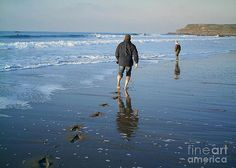 Fleeting Footprints Greeting Card by Richard Brookes. (No FAA watermark on purchased items)