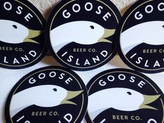 5 Goose Island Beer Company Logo Stickers 4 Inches Chicago Decal Lot Bar New
