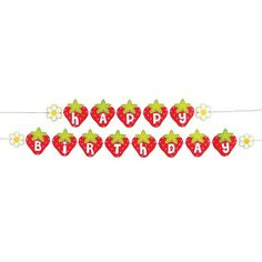Sweet Strawberry Garland /favor boxes  /Strawberry Shortcake Party