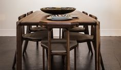 The wooden table designed by the duo Gud Conspiracy for Wewood