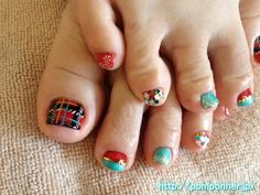 Foot Nail Christmas