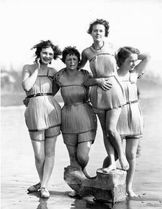 Women. They are, aren't they? However frumpy the swimming suits were, I might be inclined to say I prefer them over thongs or spedos. Actually, they are all horrendous. - Pinned by Diana Daugherty onto things i love. from shannoneileenblog.typepad.co