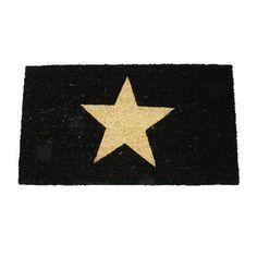 15,90EUR Fussmatte schwarz mit Stern