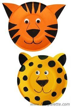 Paper Plate Tiger And Leopard Craft Paper Plates Treusured