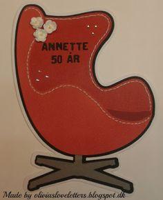 Olivia cards nr. 19 Ægget (rød)