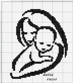Cross Stitch Letters, Beaded Cross Stitch, Cross Stitch Baby, Cross Stitch Embroidery, Crochet Diagram, Crochet Chart, Filet Crochet, Cat Cross Stitches, Cross Stitching
