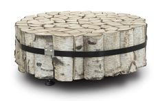 Tie your spare logs together to make a table. via Fredrikson Stallard