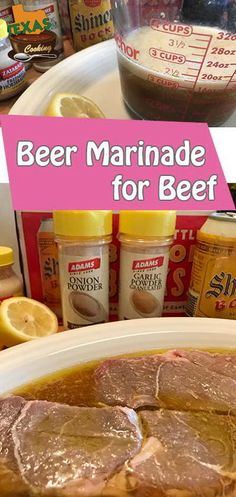 Beer Marinade for Beef recipe None of your lite beer, now. We like to use Shiner! Beer Steak Marinade, Marinade Sauce, Steak Recipes, Cooking Recipes, Mop Sauce, Half And Half Recipes, Best Beer, Food To Make, Stuffed Peppers