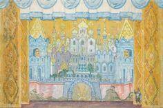 Set Design for Princesse Cygne By Alexandre Nikolaïevitch Benois ,1928
